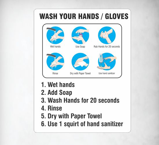 Hand sanitizing Signs