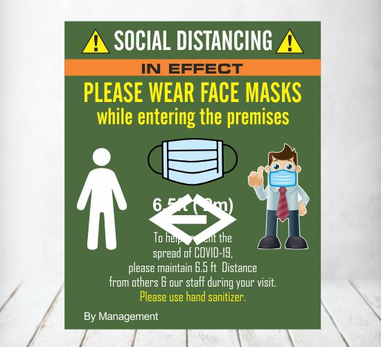 Social Distancing Poster Signs